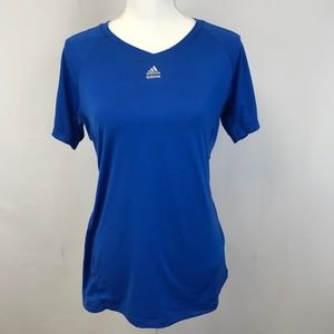 WOMEN'S BLUE SIZE M ADIDAS SHORT SLEEVE TEE
